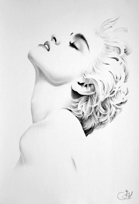 Madonna Minimal Portrait by IleanaHunter