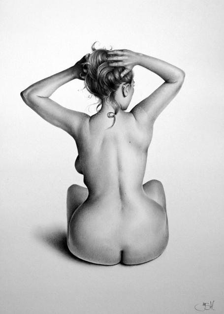 Nude Study: Emma. by IleanaHunter