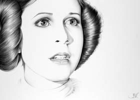 Leia Minimal Portrait by IleanaHunter