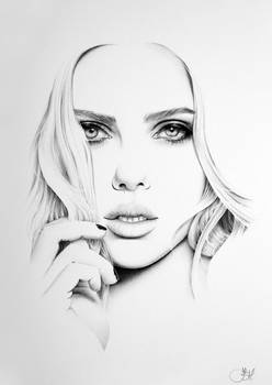 Scarlett Johansson Minimal Portrait