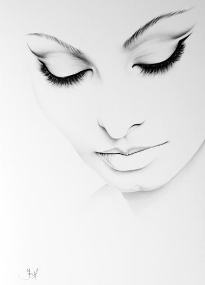 Sophia Loren Minimal Portrait by IleanaHunter