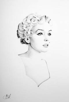 Marilyn Minimal Portrait