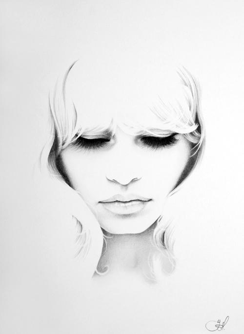 Brigitte Bardot Minimal Portrait by IleanaHunter