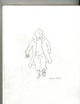 Tintin Pencil sketch