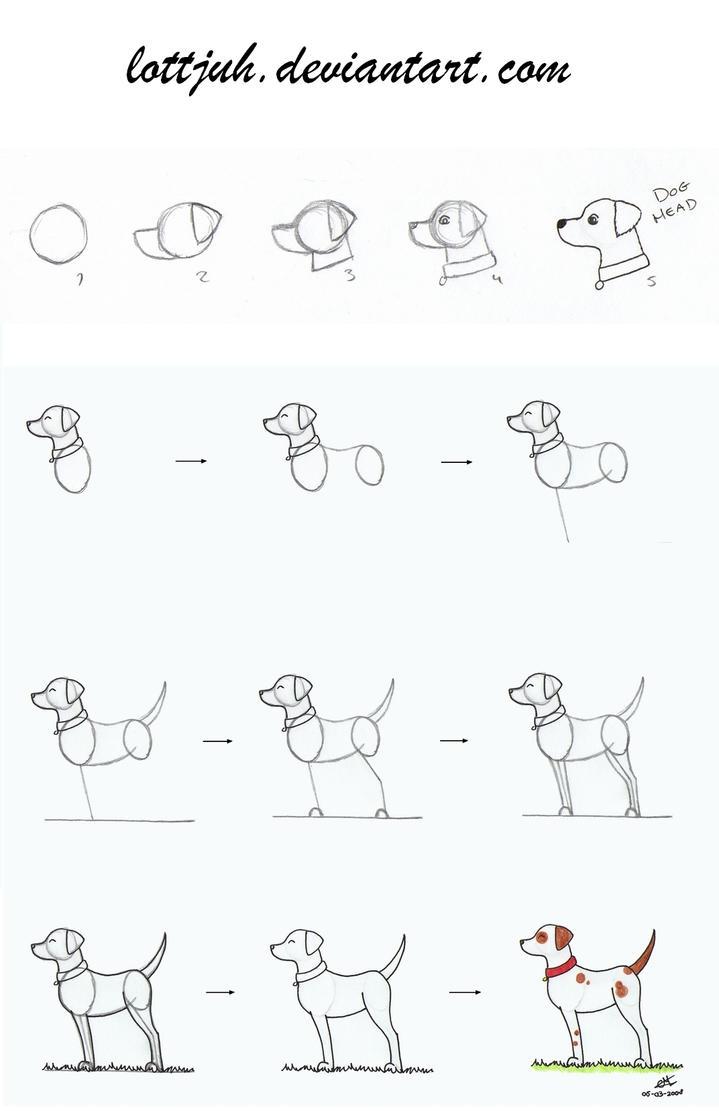 Simple dog body tutorial by lottjuh on deviantart for Easy body drawings