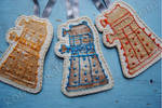 Doctor Who Embroidered Dalek Ornaments by kookookitty