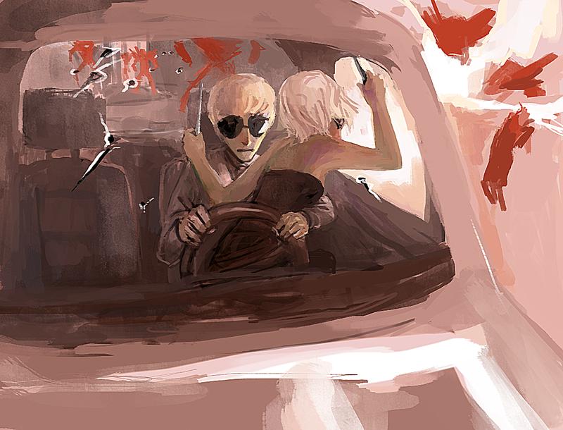 getaway car. by MewOfTheClouds