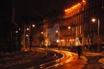 Street in Dublin by night