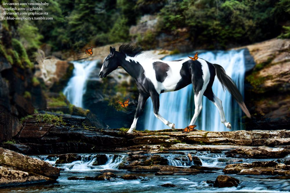 Paint waterfall