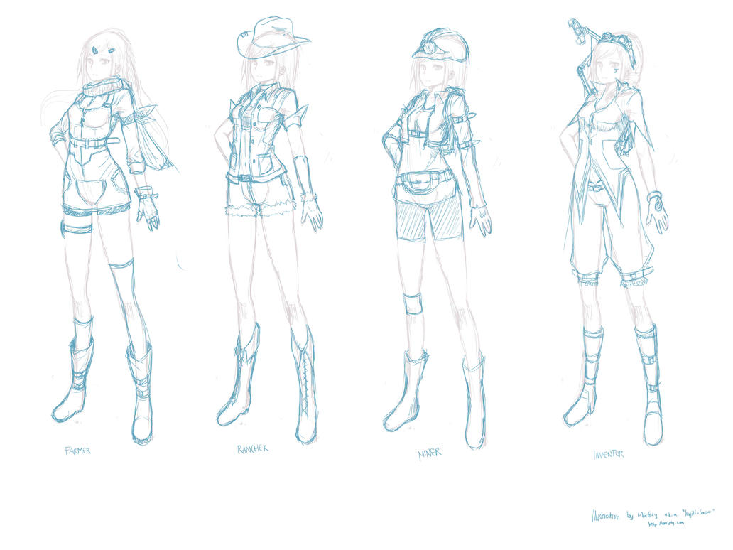 Game Character Concept Design : Game character concept design by marfrey on deviantart