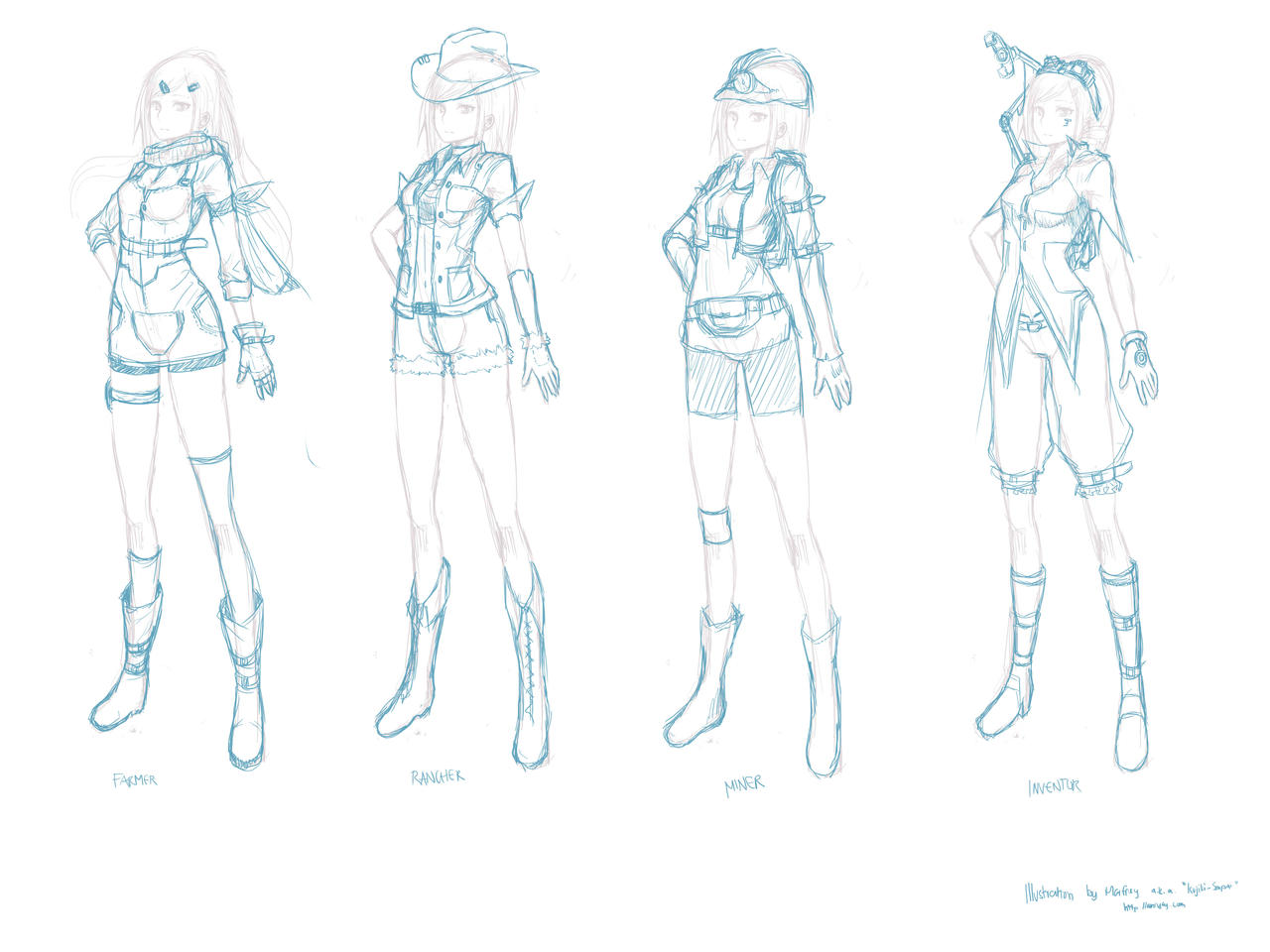 Game Design Character Art : Game character concept design by marfrey on deviantart