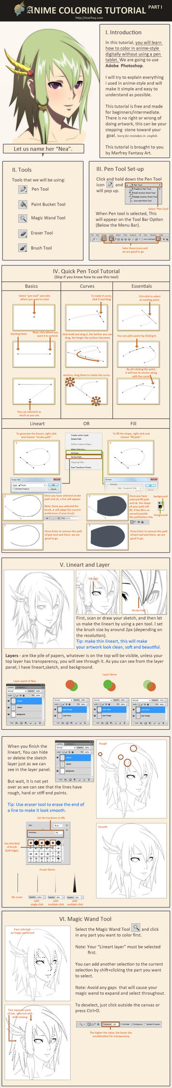 Anime Coloring Tutorial Part 1 by Marfrey on DeviantArt