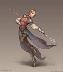 Spearwoman by Gofelem