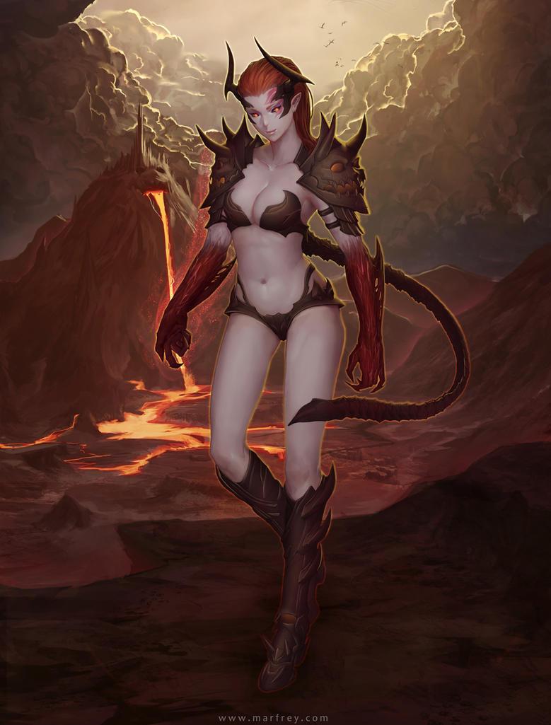 Dark Lady by Marfrey