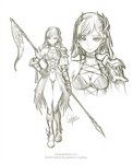 Sketch 001-2019 - Female Warrior