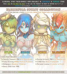 Elemental Spirit Packs/Collection by Gofelem