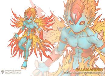 Salamander - Elemental Spirit by Gofelem