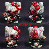 Hello Kitty with Zombie Cat by Undead-Art