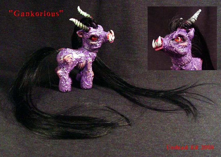 My Little Demon Pony Gank Ooak by Undead-Art