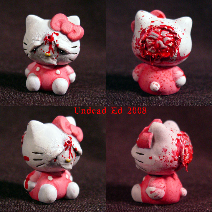 Blasted Hello Kitty 1 inch by  Evil Hello Kitty Tattoo