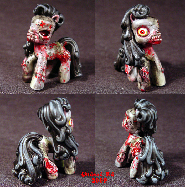 My Demon Ponies Zombie Mini by Undead-Art