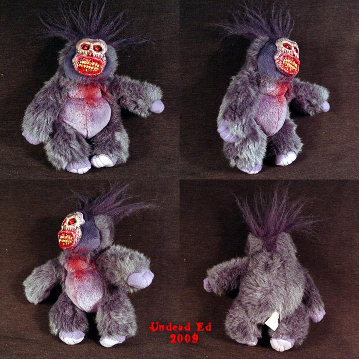 Gore The Gorilla Ooak Plush by Undead-Art