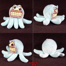 Marty The Mad Octopus Ooak Toy by Undead-Art
