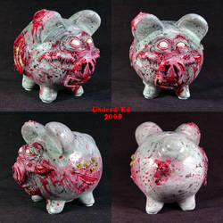 Zombie Piggy Bank OOak full by Undead-Art