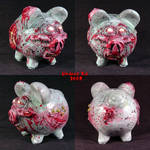 Zombie Piggy Bank OOak full