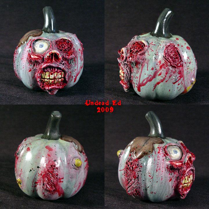 Zombie Pumpkin decoration by Undead-Art