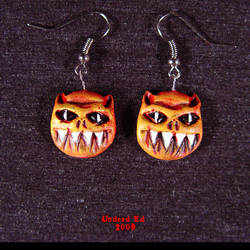 Demon earrings with ear wire