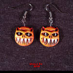 Demon earrings with ear wire by Undead-Art