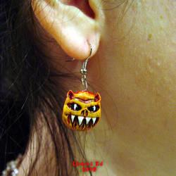 Demon Earrings OOak by Undead-Art