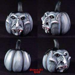 Rotten Pumpkin deco vampire