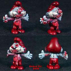 Zombie Papa Smurf ooak