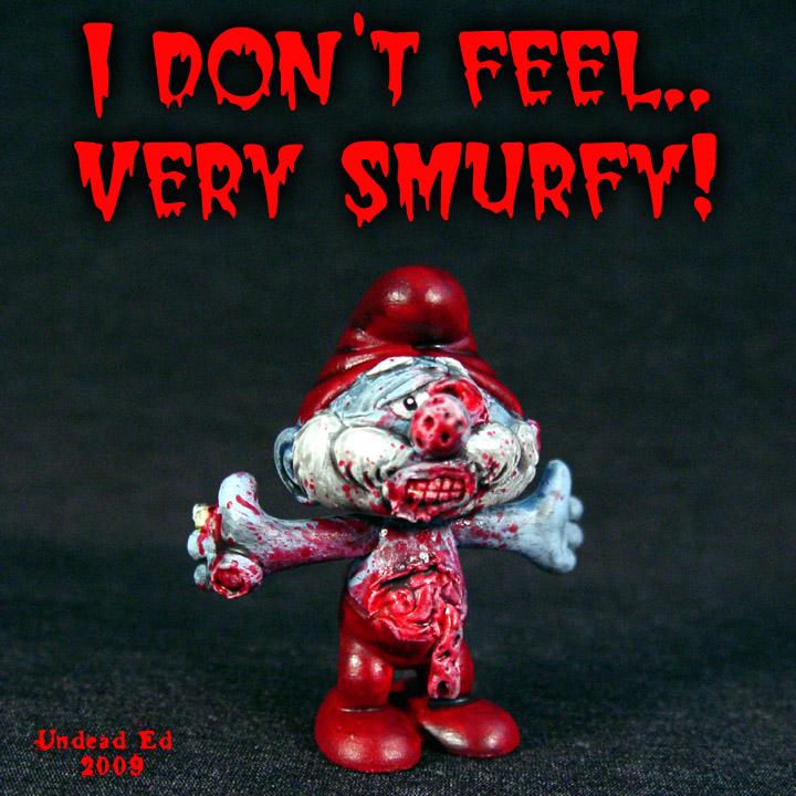 Zombie Papa Smurf SMURFY by Undead-Art