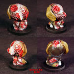 Zombie Beagle dog ooak by Undead-Art