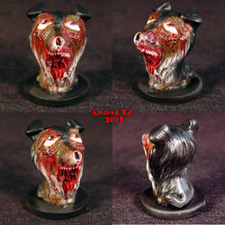 Zombie Rough Collie Ooak  dog