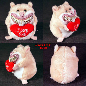 Creepy Hamster of LOVE Plush by Undead-Art