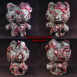 Zombie Hello Kitty Piggy Bank2 by Undead-Art