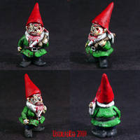 Zombie Gnome with Pikeaxe by Undead-Art