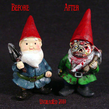 Zombie Gnome compare by Undead-Art