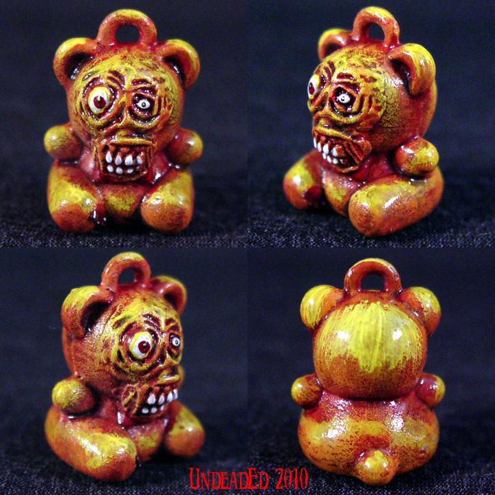Freako Bear Necklace Charm by Undead-Art