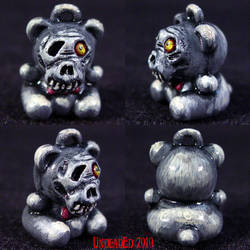 Death Bear Necklace Charm by Undead-Art