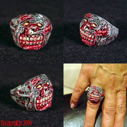 Rot Zombie Ring  ooak jewelry