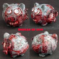 Zombie Piggy Bank small OOak by Undead-Art