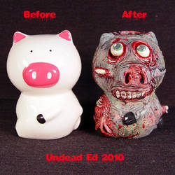 Zombie Piggy Bank SPLITS Compa by Undead-Art