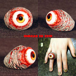 Rot Ring Red Zombie Evil eye by Undead-Art