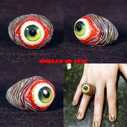 Rot Ring Green Zombie evil eye by Undead-Art