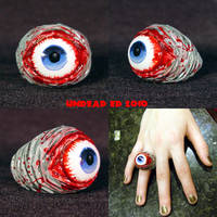Rot Ring Blue Zombie evil eye by Undead-Art
